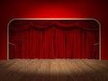 Theatre curtains render of the of a Royalty Free Stock Images