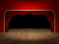 Theatre curtains render of the of a Royalty Free Stock Photo