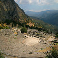 Theatre of Delphi Stock Photos