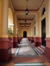 Theatre entrance of the national in the casco viejo of panama city Royalty Free Stock Image