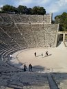 Theatre of epidaurus ancient in the archaeological site asklepios Stock Photo