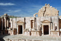 Theatre Greco-Roman city of Jerash, Jordan Stock Photos
