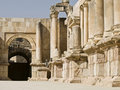 Theatre in Jerash Royalty Free Stock Photo
