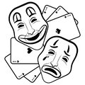 Theatre Masks. Drama And Comed...