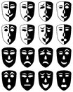 Theatre Masks Set Stock Photo