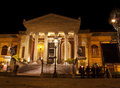 Theatre Massimo by night Royalty Free Stock Photography