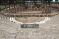 Theatre in ostia antica excavation the port of ancient rome italy Royalty Free Stock Photos