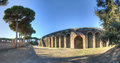 Theatre in pompeii restorated the archeological site of italy Royalty Free Stock Image