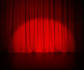 Theatre red curtain or drapes background with Royalty Free Stock Photo