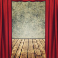 Theatrical grungy backgrounds with red curtains Royalty Free Stock Images