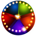 Theatrical Lights Pie Chart Stock Photo
