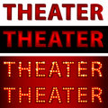 Theatrical Lights Theater Text Royalty Free Stock Images