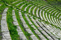 Theatron of the ancient Greek theater Royalty Free Stock Photo