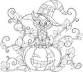 Thematic coloring for Halloween Royalty Free Stock Photo