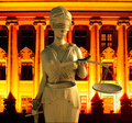 Themis in court Royalty Free Stock Photo