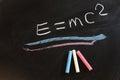 Theory of relativity Royalty Free Stock Photo