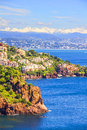 Theoule sur mer french riviera in the Royalty Free Stock Photography