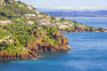 Theoule sur mer south of france aerial view Stock Image