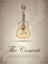 Ther concert the label over vintage background vector illustration Stock Photos