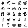 Therapeutic therapy icons set, simple style