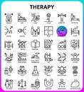 Therapy icon set based on 64px grid,outline icon