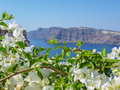 Therasia in greece aka thirasia island the volcanic island group of santorini the greek cyclades Royalty Free Stock Photo