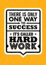 There Is Only One Success. It`s Called Hard Work. Inspiring Creative Motivation Quote. Vector Typography Banner
