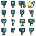 Thermal imager icons set vector flat Royalty Free Stock Photo