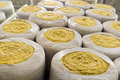 Thermal insulation material in roll and packaging Royalty Free Stock Photo