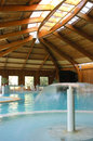 Thermal pool indoor filled with water Stock Image