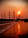 Thermal power station in Russia Stock Photo