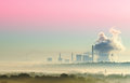 Thermal power surrounded by mist Stock Photography