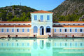 Thermal spas old building at methana destination known since antiquity for its baths saronic gulf greece Stock Photo
