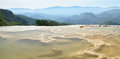 Thermal springs hierve el agua in oaxaca is one of the most beau beautiful places mexico are high mountains Stock Image
