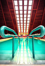 Thermal swimming pool in one of the Hungarian hospital Stock Photography