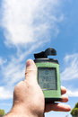 Thermometer, anemometer and hygrometer Royalty Free Stock Photo