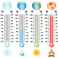 Thermometer and global warming Royalty Free Stock Image