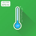 Thermometer icon. Business concept goal pictogram. Vector illust Royalty Free Stock Photo