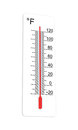 Thermometer indicates high temperature fahrenheit extremely vector illustration Stock Images