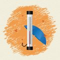 Thermometer By Seasons. Autumn