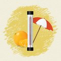Thermometer by seasons summer vector illustration Stock Photo