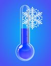 Thermometer snowflakes cold weather vector illustration Stock Photography