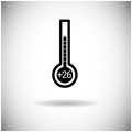 Thermometer Weather Temperature Indicator Icon Royalty Free Stock Photo
