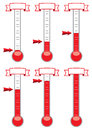 thermometers, vector Royalty Free Stock Photo