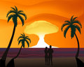 Thermonuclear Sunset Royalty Free Stock Images