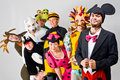 Thespians in costume Royalty Free Stock Photo