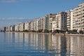 Thessaloniki City embankment, Greece Royalty Free Stock Photo
