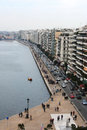 Thessaloniki coast as seen from the white tower greece Stock Photo
