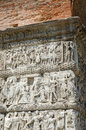 Thessaloniki fragment of bas relief of arch of gallerius greece the iii century Royalty Free Stock Image