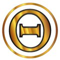 Theta Greek Letter Royalty Free Stock Photo